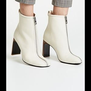 rag & bone Ellis zip white leather boots